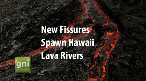 Rivers Of Lava Escape New Vent In Hawaii