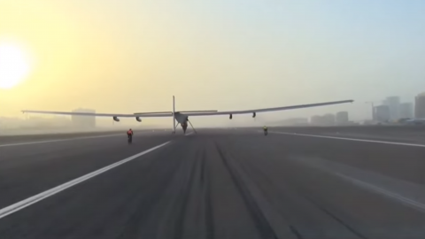 Record-Breaking Solar Plane Flight